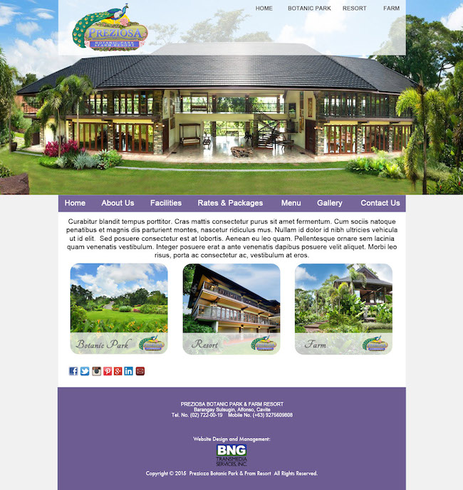 Preziosa Website Template - Lavander 650